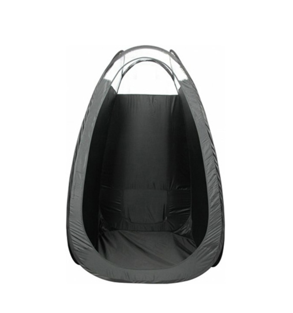 black pop up tent